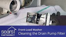 Whirlpool Waschmaschine Pumpe Reinigen - cleaning the drain filter on a front load washer with