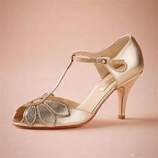 Vintage Heels Wedding vintage gold wedding shoes pumps kitten heel t