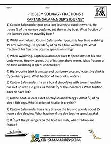 fraction word problems worksheet 3rd grade 11395 3rd grade math word problems site fractions 1 captain salamanders journey math word problems