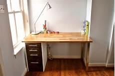 Wooden Bedroom Desk by Custom Beech And Maple Desk Diy Furniture Ikea Desk