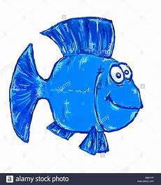 Malvorlagen Unterwasser Tiere Lustig Blauen Comic Tiere Fisch Augen Unterwasser Abbildung