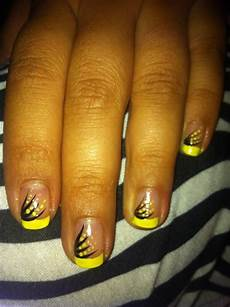 black yellow nail art for short nails yellow nail art
