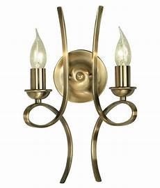 scrolled double arm wall light