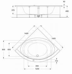 baignoire d angle dimension baignoire d angle 140 x 140 cm connect ideal standard