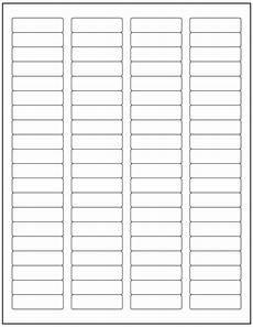 40000 laser ink jet labels 80up return address template 5167 500 sheets 1 75 5 ebay