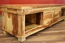 Tv Möbel Holz - sideboard tv hifi 180x45x40 massiv holz bali schrank