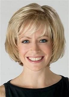 medium chin length bob wig with bangs straight synthetic