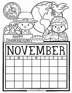 november color by number worksheets 16214 preschool monthly calendar printables preschool