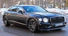2020 bentley flying spur loses padded camo wears production lights carscoops