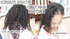 curly hair wash day routine for kids quick and easy detangling natural hair youtube