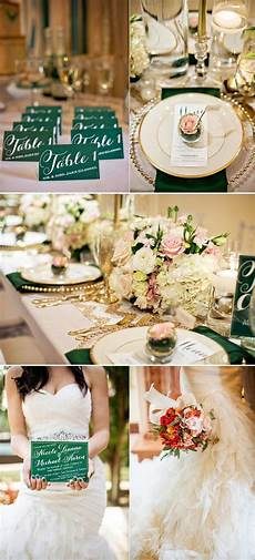 inspiration for an emerald green gold sequin blush and