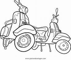 vespa 18 gratis malvorlage in motorrad transportmittel