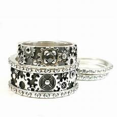 i want his and hers steunk gear ring sterling