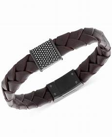 swarovski s capture black pvd metal brown leather