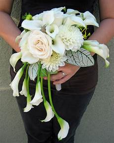 memorable wedding white calla lily bouquets four ways to