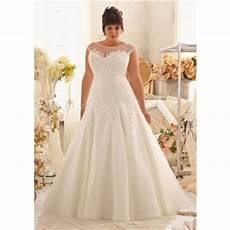 princess a line bateau illusion neckline cap sleeve organza lace plus size wedding dress