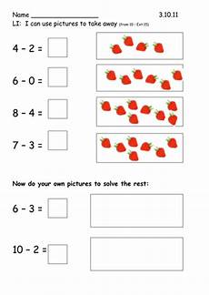 y1 subtraction using pictures teaching resources