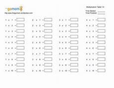 multiplication table 1 4 worksheet for 2nd 3rd grade lesson planet