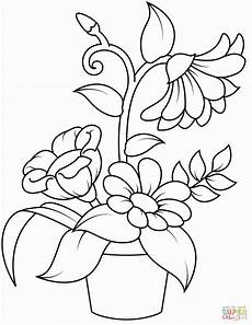 free printable coloring pages flowers awesome flowerpot