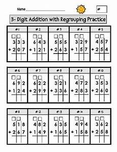 2nd grade math worksheet addition with regrouping digit addition with regrouping worksheets by second