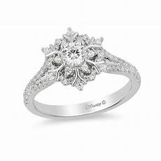 enchanted disney elsa 5 8 ct t w snowflake engagement