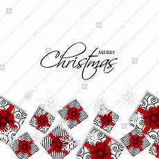 merry christmas party invitation template greeting card with gift boxes wreath snowflake thank