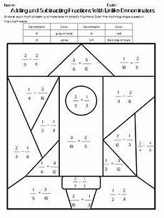 fraction worksheets adding and subtracting unlike denominators 3838 adding and subtracting fractions with unlike denominators edition 1
