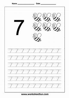7 worksheet number tracing worksheet 7 homeschooling number tracing kindergarten math school