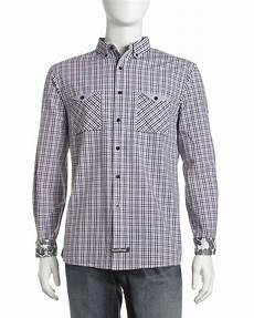 Kariertes Hemd Englisch - laundry plaid button shirt in purple for
