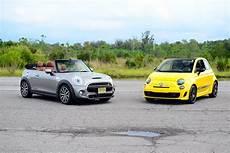 small cars retro style 2016 mini cooper vs fiat 500