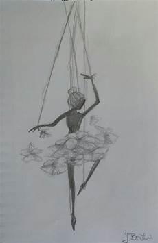 quot marionette quot bleistift zeichnung t 228 nzerin