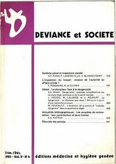 D 233 Viance Et Soci 233 T 233 1981 Vol 5 N 176 4 Pers 233 E