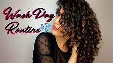 wash day routine curly hair 2c 3a youtube