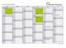 Ferien Hessen 2012 Ferienkalender Zum Ausdrucken
