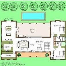 house plans with pools in the middle elegant h shaped ranch house plans new home plans design