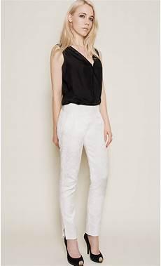 pantalon femme 7 8 jacquard mondefile