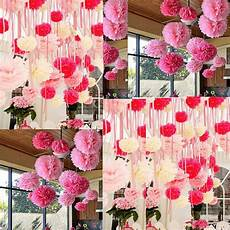 10x wedding decorations tissue paper pompoms hanging pom poms 8 quot 10 quot 12 quot ebay