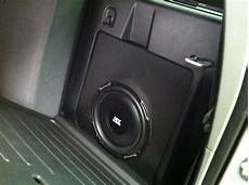 seat connectivity box 10 quot subwoofer custom molded into the compartment the back seat in a toyota tacoma yelp