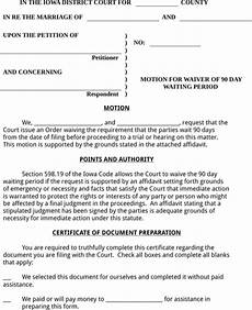 download iowa divorce papers for free formtemplate