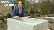 steintröge selber machen waschbecken aus beton selbst gemacht