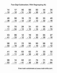 multiple digits vertical subtraction with regrouping 17 best images about subtraction on each day