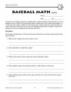 baseball math lesson plans worksheets reviewed by teachers