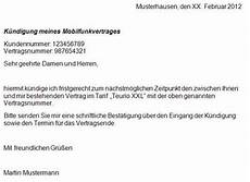 handy kündigung muster handy vertrag k 252 ndigen kostenloser musterbrief f 252 r