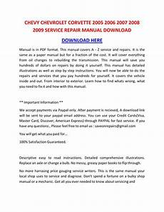 service repair manual free download 2005 chevrolet express 2500 engine control chevy chevrolet corvette 2005 2006 2007 2008 2009 service repair manual download by