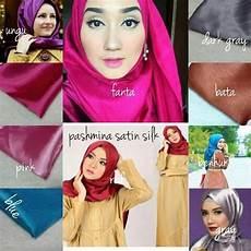 Cara Memakai Jilbab Pashmina Satin Polos Voal Motif
