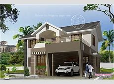 4 bedroom indian house with sloping roofs and open terrace