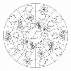autumn mandala coloring page for crafts and