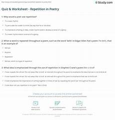 poetry repetition worksheets 25346 quiz worksheet repetition in poetry study