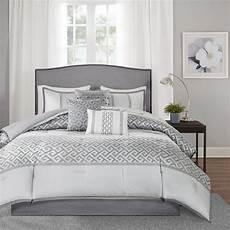 beautiful modern chic elegant geometric grey charcoal silver white comforter ebay