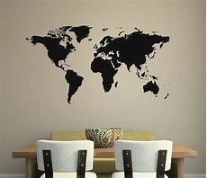 home decor wall decals world map wall decal removable sticker home decor mural